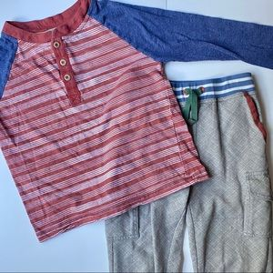 Matilda Jane Boys Matching Shirt/Pants Size 6-7